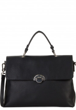 SURI FREY Handtasche mit Überschlag Naency groß Schwarz 12313100 black 100