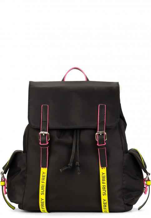 SURI FREY Rucksack SURI Black Label FIVE groß Schwarz 16004141 black/yellow 141