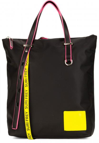 SURI FREY Rucksack SURI Black Label FIVE klein Schwarz 16003141 black/yellow 141