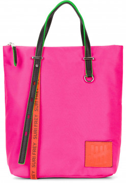 SURI FREY Rucksack SURI Black Label FIVE klein Pink 16003676 pink/orange 676