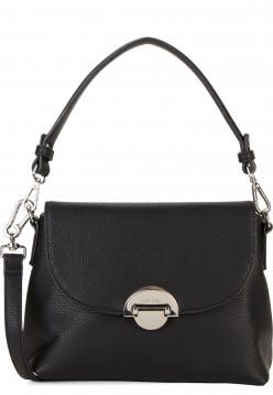 SURI FREY Handtasche mit Überschlag Naency mittel Schwarz 12312100 black 100
