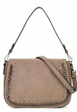 SURI FREY Handtasche mit Überschlag Dory Braun 12024900 taupe 900
