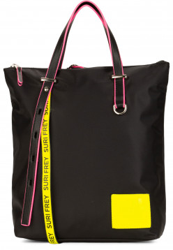 SURI FREY Rucksack SURI Black Label FIVE klein Schwarz 16003141 black/yellow 141