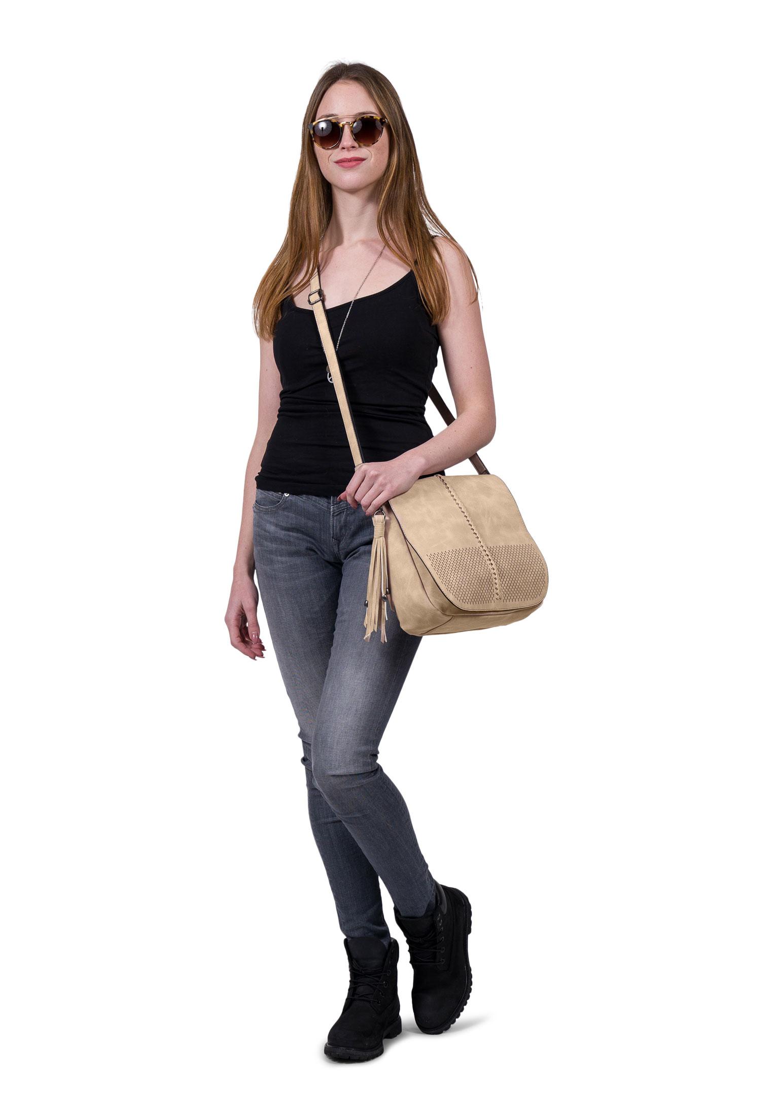 Handtasche mit Überschlag Laury hoch