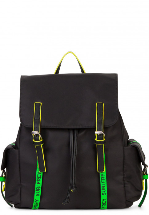 SURI FREY Rucksack SURI Black Label FIVE groß Schwarz 16004196 black/green 196
