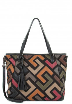 SURI FREY Shopper Cilly groß Schwarz 12633150 black kombi 150