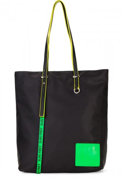 SURI FREY Shopper SURI Black Label FIVE groß Schwarz 16002196 black/green 196