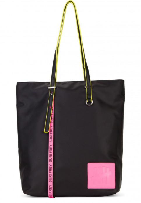 SURI FREY Shopper SURI Black Label FIVE groß Schwarz 16002167 black/pink 167