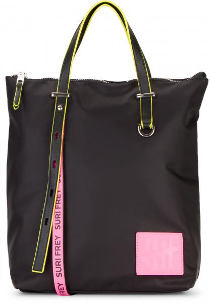 SURI FREY Rucksack SURI Black Label FIVE klein Schwarz 16003167 black/pink 167