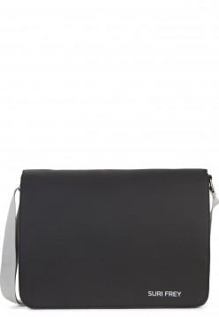 SURI FREY Handtasche mit Überschlag SURI Sports Jessy groß Schwarz 18002100 black 100