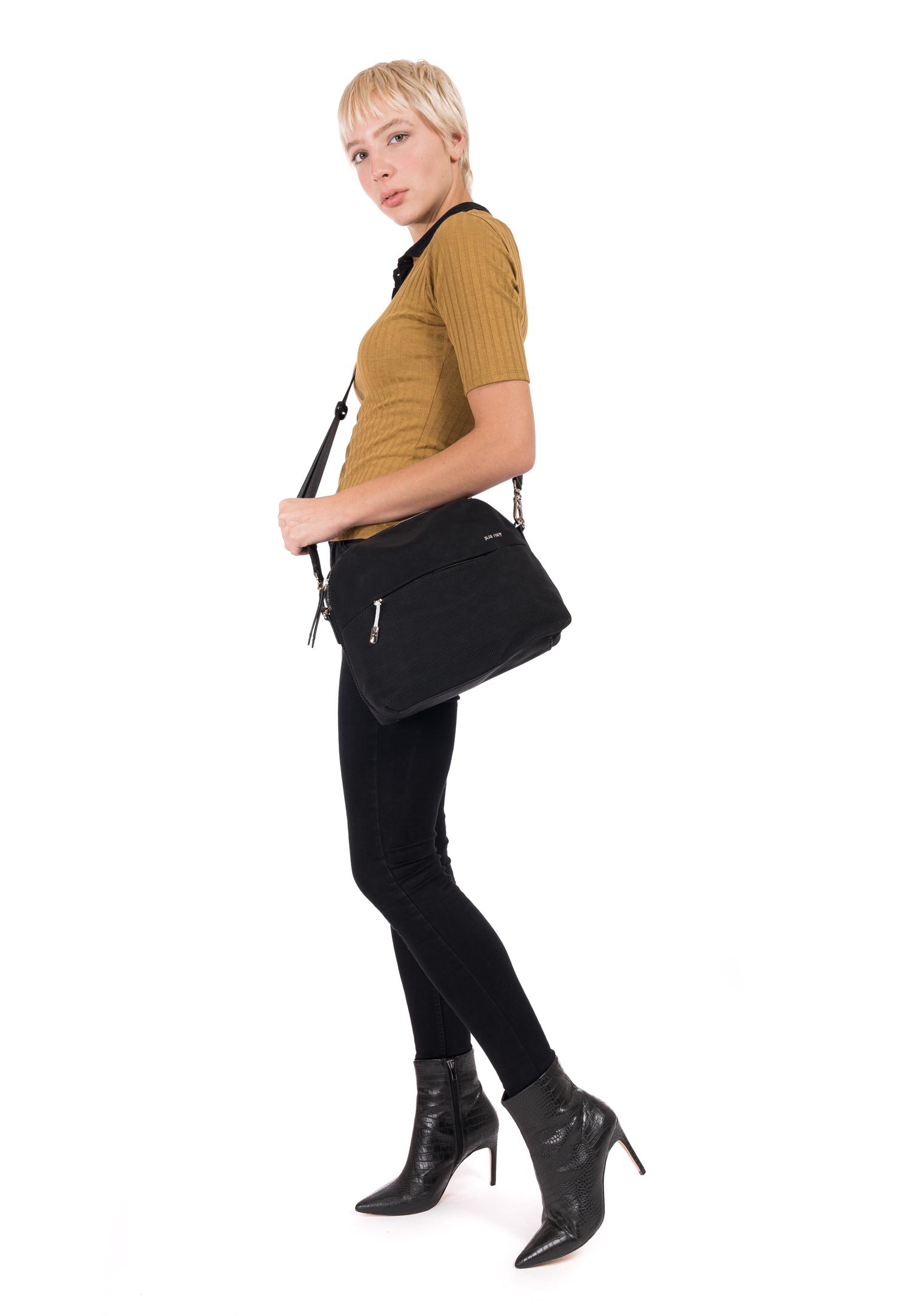 Handtasche mit Reißverschluss Romy Bevvy mittel
