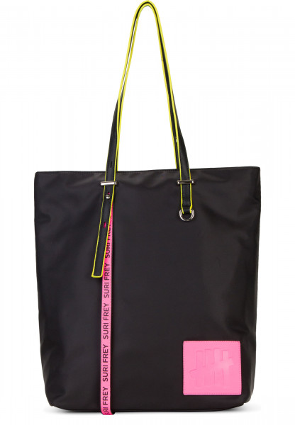 SURI FREY Shopper SURI Black Label FIVE groß Schwarz 16002167 black/pink 167